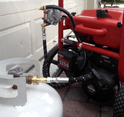 Переоборудование бензогенератора на газ