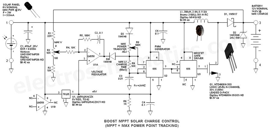 схема повышающего контроллера